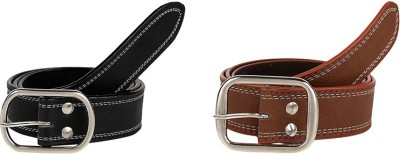 Allura Men Casual Black, Brown Artificial Leather Belt