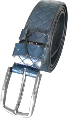 Lion Heart Men Casual Blue Genuine Leather Belt