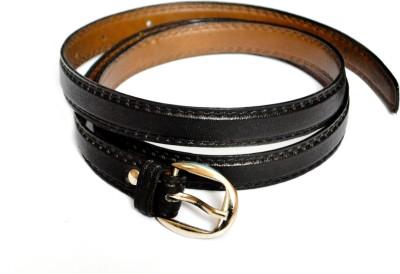 VICTORIA SECRET INDIA Girls, Women Black Artificial Leather Belt