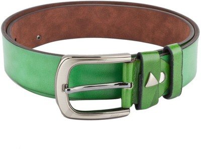 Swiss Design Men Casual Green Genuine Leather Belt