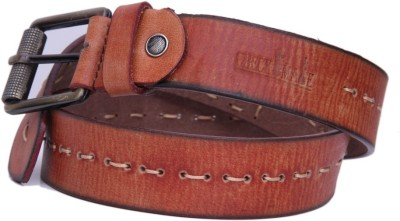 Checkmate Men Casual Tan Genuine Leather Belt