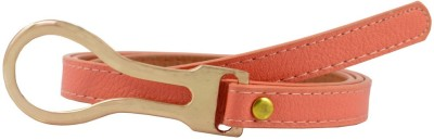 Antiformal Women Party, Casual Orange Artificial Leather Belt