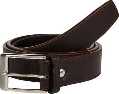 Allura Men Formal Brown Artificial Leather Belt