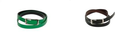 Bs Spy Men Casual Green Artificial Leather Belt