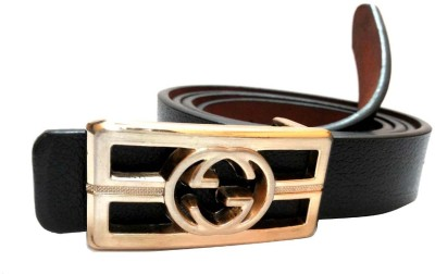 Mode Girls, Women Casual, Formal Black Genuine Leather Belt