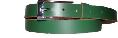 Foonty Girls Casual Green Genuine Leather Belt
