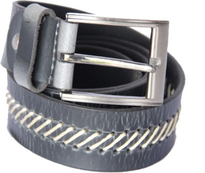 Matrix Men Casual Grey Genuine Leather Belt