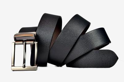 Saugat Traders Boys, Men Formal, Casual Black, Brown Genuine Leather Reversible Belt
