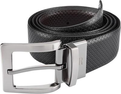 Raymond Home Men Black Genuine Leather Belt