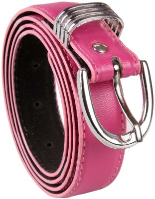 Harp Boys, Men, Girls, Women Casual, Party, Formal, Evening Pink Artificial Leather Belt