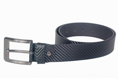 Kara Men Casual Black Genuine Leather Belt