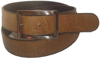 Jaws N Horns Men Formal, Casual Tan Genuine Leather Reversible Belt