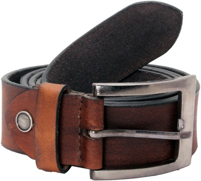 Ox Men Casual Brown Genuine Leather Belt