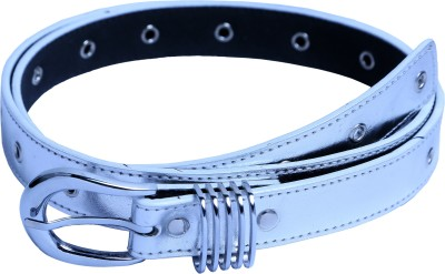 Contra Women Silver Artificial Leather Belt