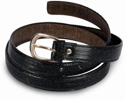 Victoria Secret Women Black, Silver Artificial Leather Belt