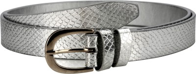 Orkee Women Party Silver Artificial Leather Belt