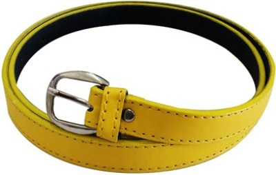 Verceys Girls, Women Casual Yellow Artificial Leather Belt