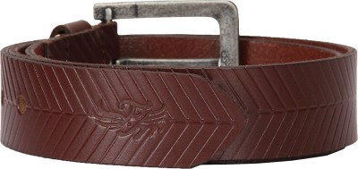 Flying Machine Men Brown Genuine Leather Belt
