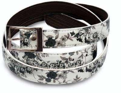 VICTORIA SECRET INDIA Women Casual, Party White Artificial Leather Belt