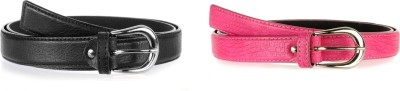 Allura Women Evening, Party, Casual, Formal Black, Pink Synthetic Belt