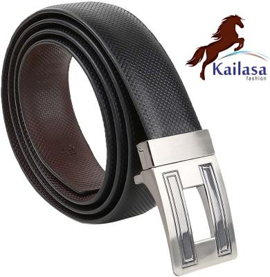 Kailasa Men Formal Black Artificial Leather Reversible Belt
