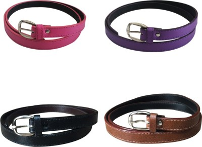 Verceys Girls, Women Casual Pink, Purple, Black, Tan, Brown Artificial Leather Belt