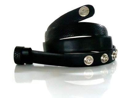 Dhruva Women Casual Black Genuine Leather Belt