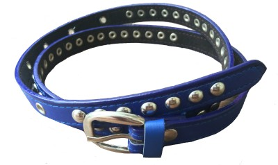 DEWY Women Casual Blue Artificial Leather Belt