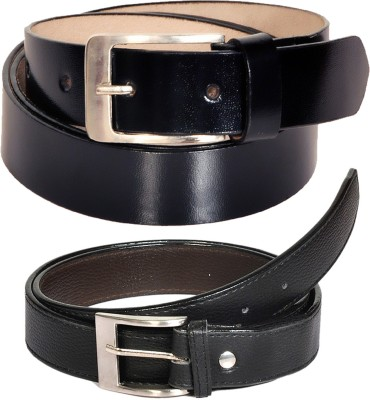 Swan Collection Boys, Men Casual, Formal, Evening Black Artificial Leather Belt