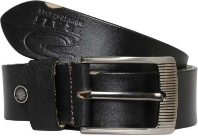R4U Denim Factory Men Formal Black Genuine Leather Belt