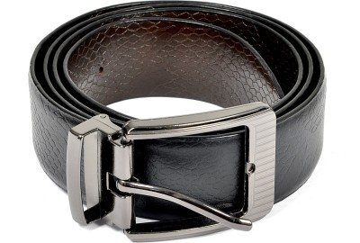 Frow Men Black Genuine Leather Reversible Belt