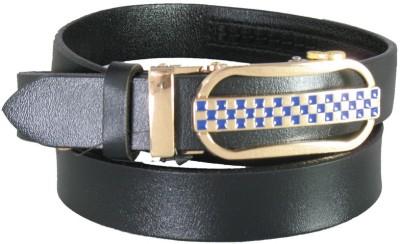 Lion Heart Girls Casual Black Genuine Leather Belt