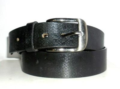 Troyfashion Men Black Genuine Leather Belt
