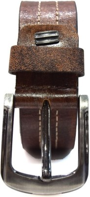 TannedHides Men Formal, Party, Casual Brown Genuine Leather Belt