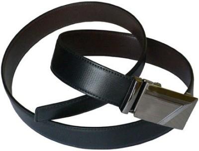 ALEXISE Men Casual Black Artificial Leather Belt