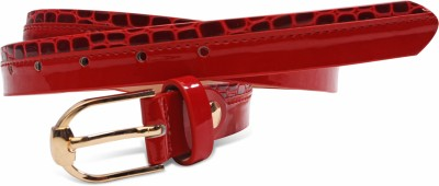 Just Women Women Casual Red Artificial Leather Belt
