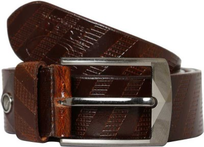 R4U Denim Factory Men Casual Brown Genuine Leather Belt