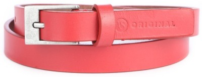 American Swan Women Casual Red Artificial Leather Belt