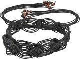 Jainsons Women Casual Black Fabric Belt