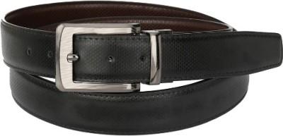 Jupiter Men Party Black Artificial Leather Reversible Belt
