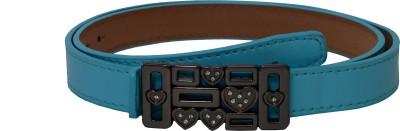 Gen Women Casual Blue Artificial Leather Belt