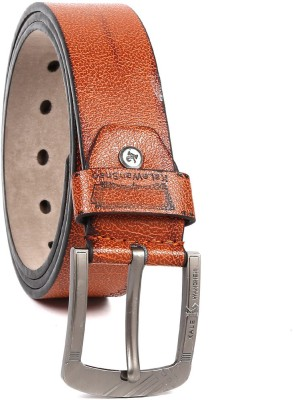 Vaishnovi Men Casual, Evening, Formal, Party Brown Artificial Leather Belt