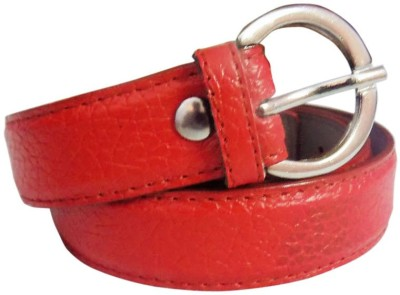Rege Girls Casual Red Artificial Leather Belt