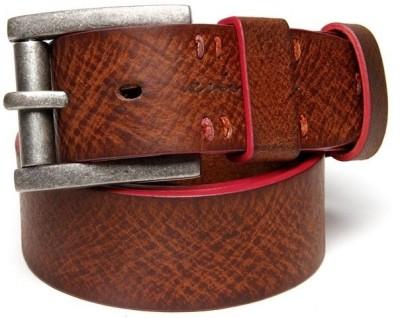 Enigma Men Casual Tan Genuine Leather Belt