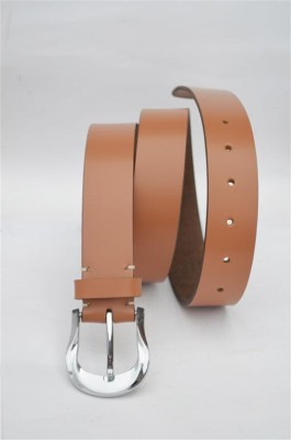 Crapgoos Men Casual Tan Genuine Leather Belt
