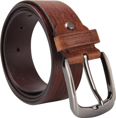 Cottage Accessories Men Maroon Genuine Leather Belt