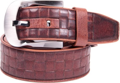 Ladecor Men Casual Tan Genuine Leather Belt