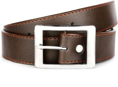 Klazo Boys, Men Casual, Party, Formal, Evening Brown, Tan Genuine Leather, Artificial Leather, Metal Belt