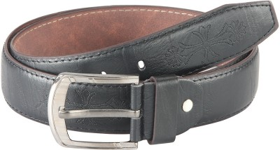 Goodwill Leather Art Men, Boys Casual, Evening, Formal, Party Black Artificial Leather Belt