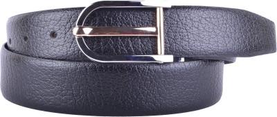 CALLESTO Men Black Genuine Leather Reversible Belt